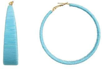 Suzanna Dai Cord Wrapped 61mm Hoop Earrings