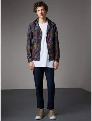 Burberry Beasts Print Super-lightweight Hooded Jacket