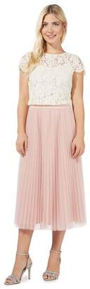 Debut Pink Pleated Tulle Skirt