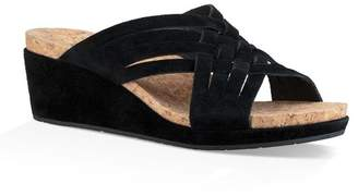 UGG Lilah Strappy Suede Wedge Platform Sandal
