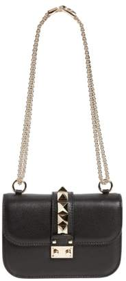 Valentino Rockstud - Small Lock Leather Crossbody Bag