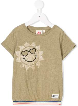 American Outfitters Kids contrast hem printed T-shirt