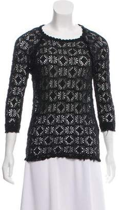 Etoile Isabel Marant Crocheted Short-Sleeve Top