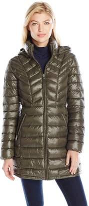 Jessica Simpson Women's Mid Length Packable Puffer Coat