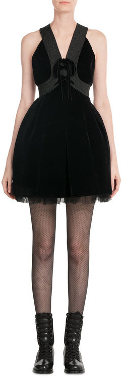 Marc by Marc Jacobs Mini Dress with Tulle and Velvet
