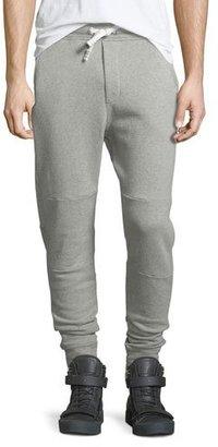 Iro Natal Drawstring Moto Sweatpants, Gray $280 thestylecure.com