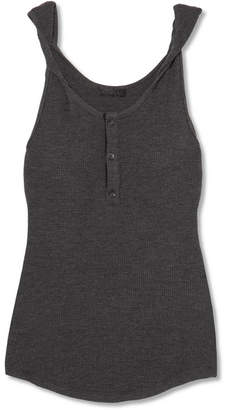 The Range - Twisted Waffle-knit Tank - Gray