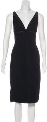 Kaufman Franco Kaufmanfranco Wool-Blend Midi Dress Black Kaufmanfranco Wool-Blend Midi Dress
