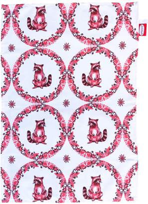 Jimbob Art - Raccoon Willow Pattern Tea Towel