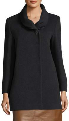 Cinzia Rocca Women's Wool Shawl Coat