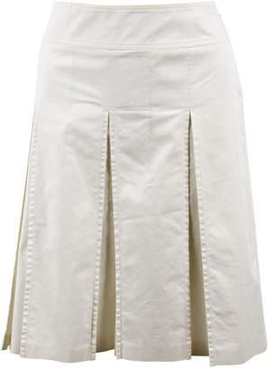 Burberry White Cotton Skirts