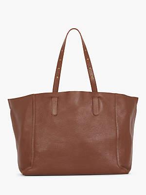 Gerard Darel Leather Simple 2 Tote Bag, Brown Camel