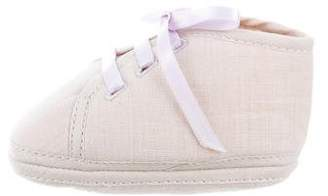 Hermes Girls' Canvas Round- Toe Booties