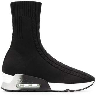 Ash ankle high sock sneakers