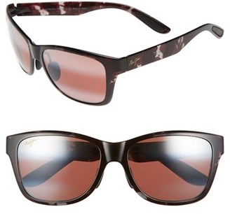 Men's Maui Jim 'Road Trip' 57Mm Polarized Sunglasses - Black And Grey Tortoise/rose $229 thestylecure.com