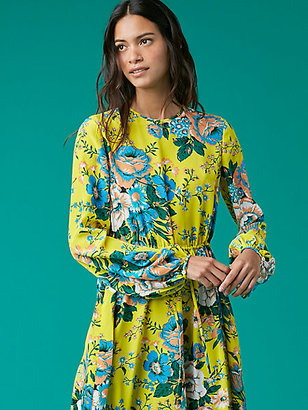 Crew Neck Floor Length Dress $598 thestylecure.com