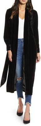 Good American The Luxe Velvet Robe Jacket