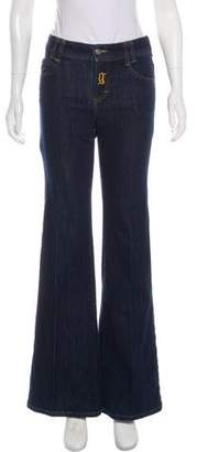 Galliano Mid-Rise Wide Leg Jeans