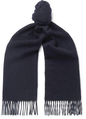 Paul Smith Fringed Cashmere Scarf - Men - Navy