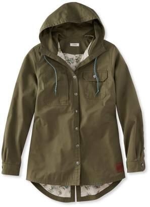 L.L. Bean L.L.Bean Water-Resistant Hooded Shirt Jacket, Women's