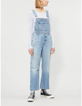22c92bfca5 Citizens of Humanity Wide-leg faded wash denim dungarees