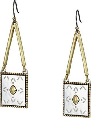 Lucky Brand Women's Tribal Square Drop Earrings