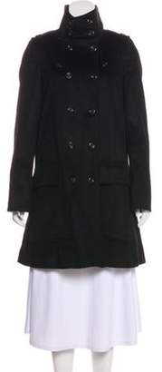 Burberry Wool Beat Check-Lined Coat Black Wool Beat Check-Lined Coat