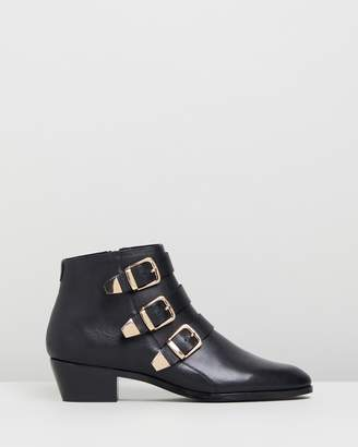 Atmos & Here Alycia Leather Ankle Boots