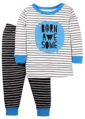 Lamaze Organic Cotton Long Sleeve T-Shirt & Pants, 2-piece Pajama Set (Baby Boys & Toddler Boys)