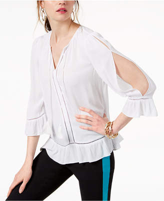 INC International Concepts I.n.c. Cold-Shoulder Peasant Top, Created for Macy's