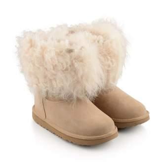 At Childsplay Clothing Ugg Uggnatural Suede Short Ii Fluff Boots