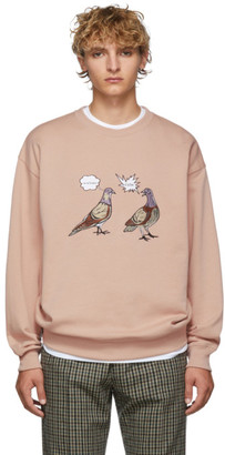Acne Studios Pink Forba Animal-Embroidered Sweater