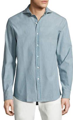 Ralph Lauren Chambray Sport Shirt, Light Blue