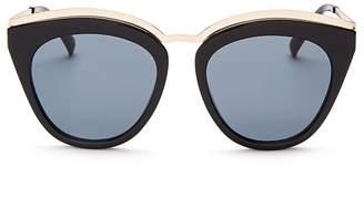 Le Specs Women's Eye Slay Cat Eye Sunglasses, 52mm