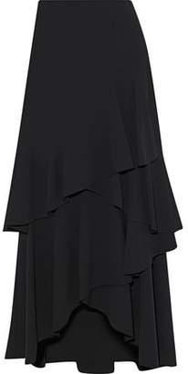 Alice + Olivia (アリス オリビア) - Alice + Olivia Martina Asymmetric Ruffled Crepe Midi Skirt