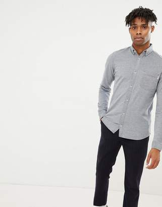 Jack and Jones Core slim fit jersey shirt with button down collar