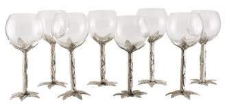 Neiman Marcus Set of 8 Cipolla Wine Glasses