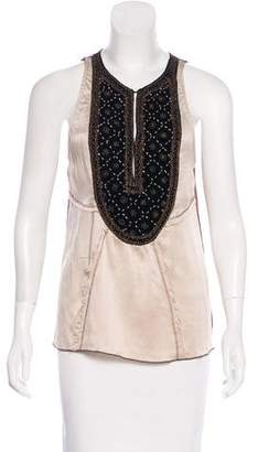 Burning Torch Sleeveless Embellished Top