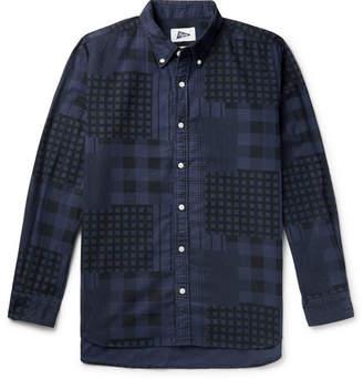 Pilgrim Surf + Supply Button-Down Collar Patchwork-Printed Cotton-Flannel Shirt