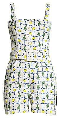 STAUD Women's Pomelo Linen Playsuit - Size 0