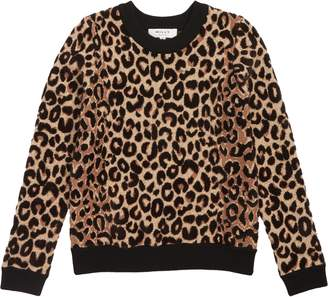 Milly Minis Textured Leopard Sweater