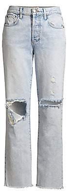 Alice + Olivia Jeans Jeans Women's Amazing High-Rise Distressed Boyfriend Jeans