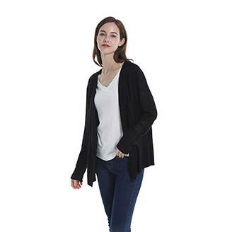 Peplum Pointe Open Front Net Sleeve Cardigan Sweater OL/Casual Outfit for Women Ladies