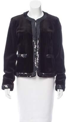Michael Kors Sequin-Accented Velvet Jacket w/ Tags