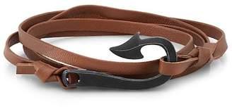 ROOM101 Fishhook Leather Wrap Bracelet