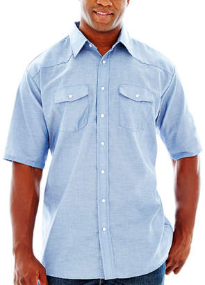 JCPenney Red Kap Short-Sleeve Western-Style Shirt-Big & Tall