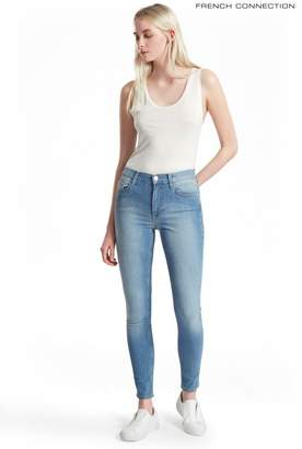 French Connection Womens Blue Five Pocket Cotton Skinny Jeans - Blue