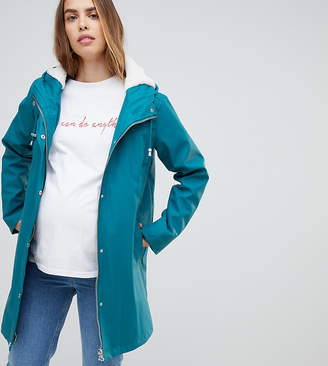 Asos DESIGN Maternity borg lined rainwear