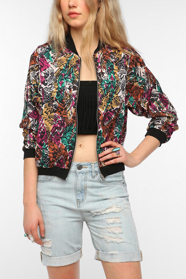Urban Outfitters One & Only x Urban Renewal Printed Bomber Jacket