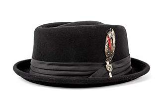 f5272eda0fb Brixton Men s Stout Pork Pie Fedora Hat Black